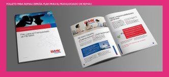 Folleto plan para el franquiciado de ReMax. Información para franquiciados para la red inmobiliaria REMAX. Franchise brochure for Real Estate REMAX.
