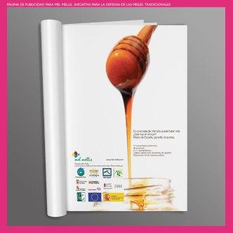 Publicidad para Mel Mellis miel. Publicidad para la marca de miel de elaboración tradicional Mel Mellis. Advertising for Mel Mellis, a traditional making honey brand.