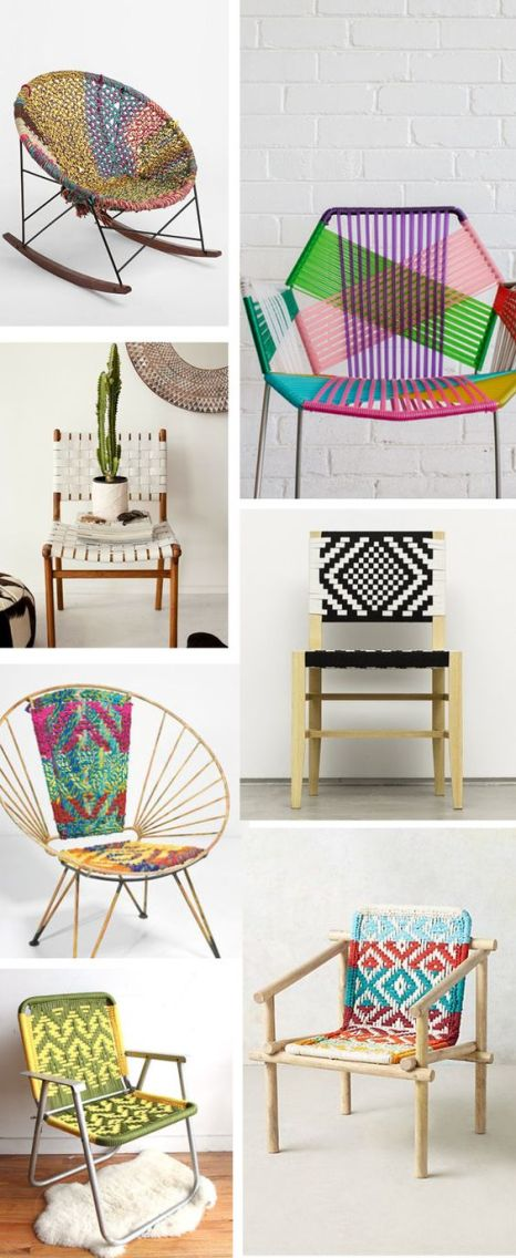 Inspiring images and chair designs which link to the Tropicalia Chair