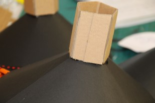 Process of making the coned vinyl shape.