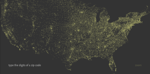 Visualizing US Zip Codes