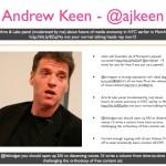 Andrew Keen - @ajkeen