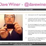 Dave Winer - @DaveWiner