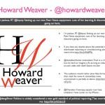 Howard Weaver - @howardweaver