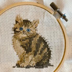 Kitten cross stitch