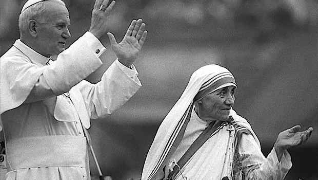 San Juan Pablo II y Santa Teresa de Calcuta