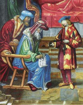 NACIMIENTO DE SAN JUAN BAUTISTA: DETALLE Juan de Cáceres (fl 1504-1524)