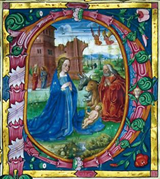 NACIMIENTO DE JESÚS: CAPITULAR Maestro del Nacimiento (primera mirad del XVI