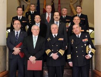 Recepción al Ajema en el Rectorado de la Universidad de Murcia