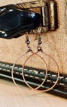 Copper earrings pair beautifully with the breathe (or your word) necklace. $24