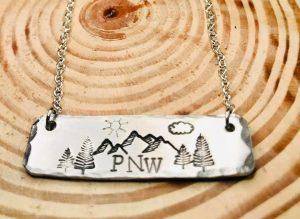 PNW handstamped necklace