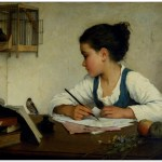 Browne,_Henriette_-_A_Girl_Writing;_The_Pet_Goldfinch_-_Google_Art_Project