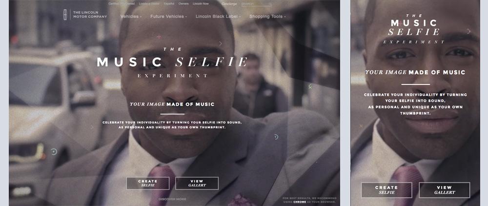 Site Music Selfie Experiment sur le blog inspiration de Catepeli