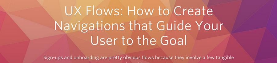 Créer une navigation utile pour l'utilisateur avec l'UX Flow