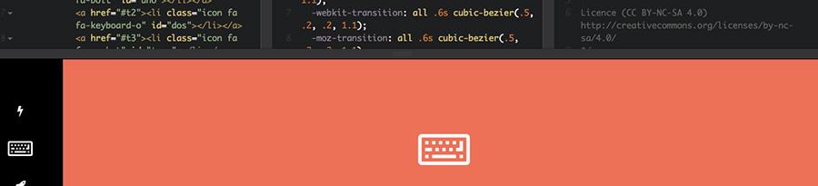 One Slide Navigation CSS Menu pour le blog de Catepeli