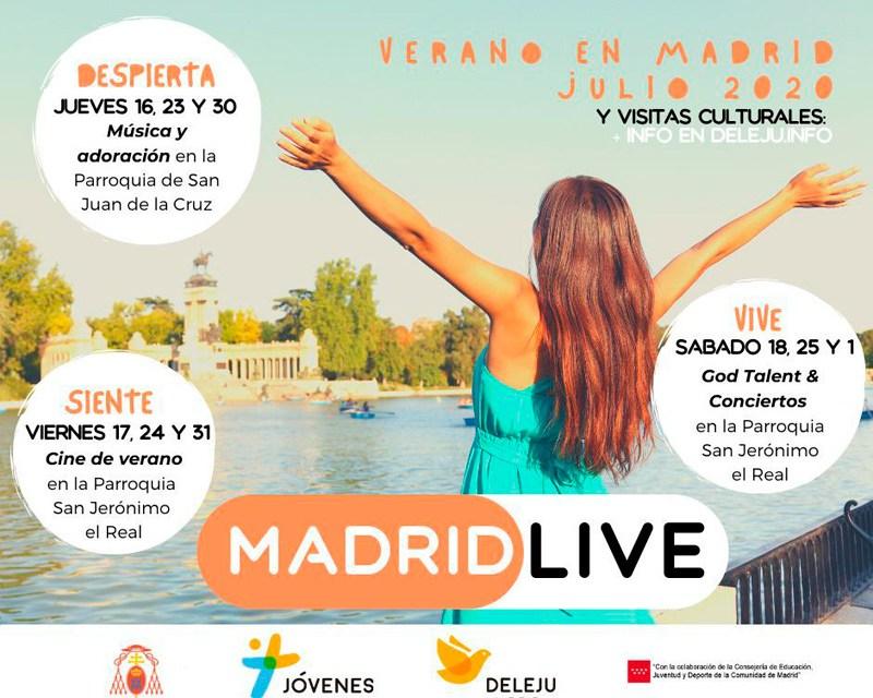 #MadridLive: conciertos, cinefórums y exposiciones para los jóvenes en julio