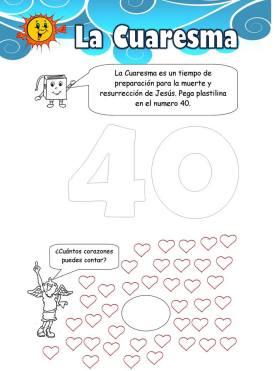 Cuaresma 40 corazones