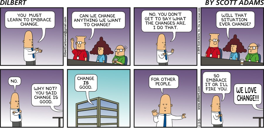 Dilbert embrace change