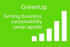 Graphic: GreenUp - turning business sustainability upside down