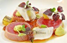 seared tuna dish by dhanesh de kok