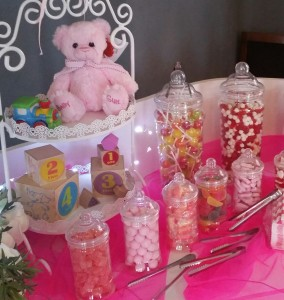 Candy Cart dressed for a girls Christening