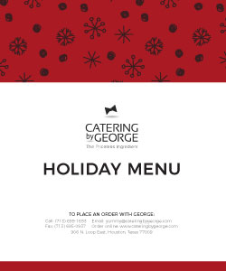 2019 holiday menu