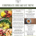 Corporate Breakfast Menu Catering By The Family