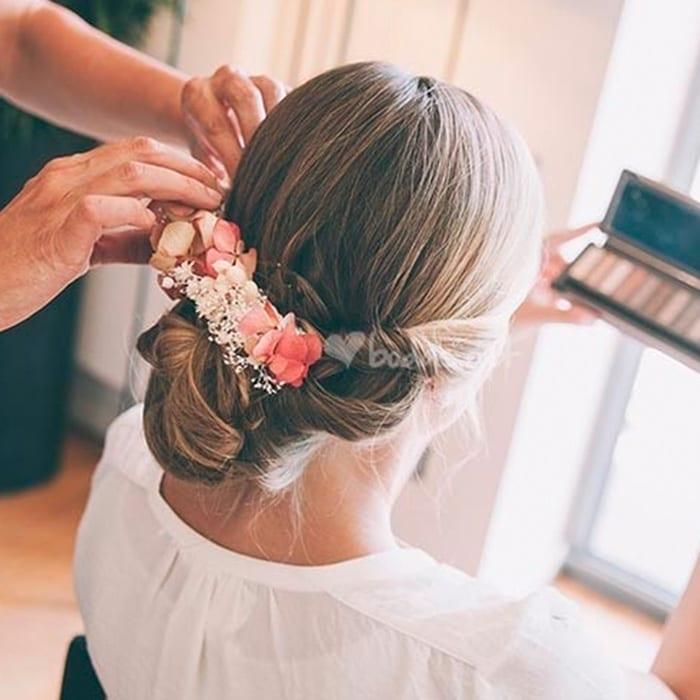Peinados De Novia Moos Bajos Boda Novia Peinado Detalle Cristal - Peinados-de-novia-moos-bajos