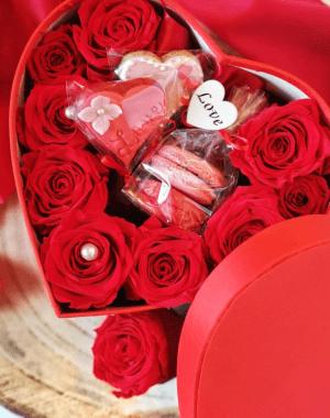 San valentino fiori cuore