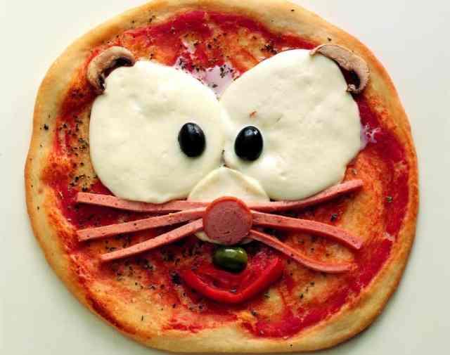 Pizza Gatto da fare con i bambini a casa
