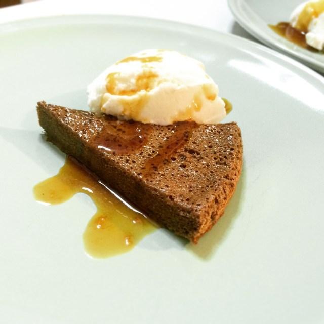 ristogelato torta cioccolato con gelato CANNELLA CARAMELLO