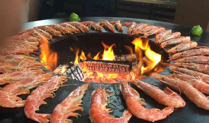 wedding barbecue catering grill pesce