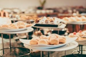 imagen de mesa catering