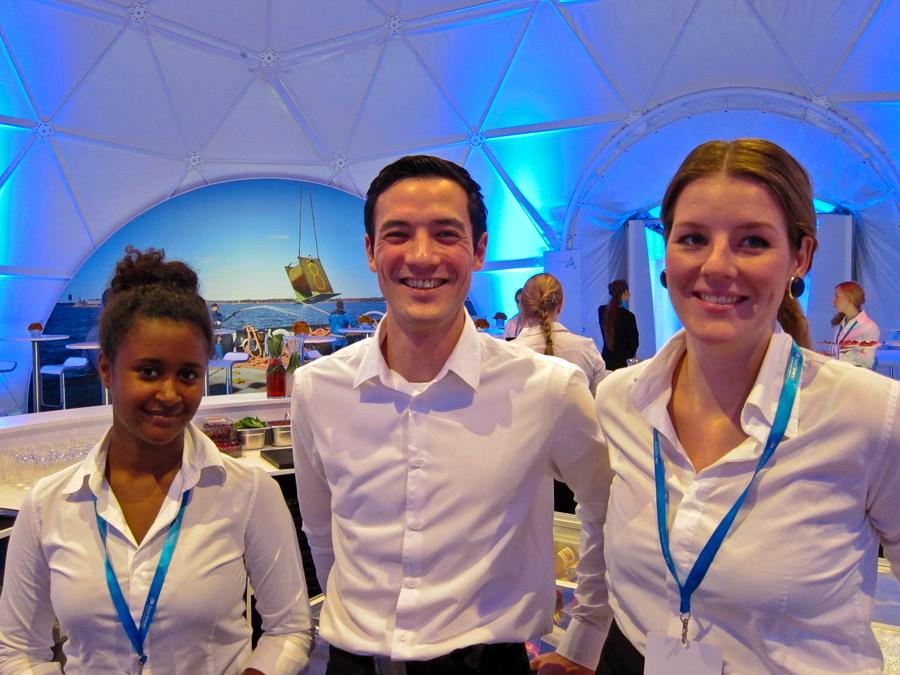 Internationales Catering Team zur Pipeline Öffnung in Lubmin