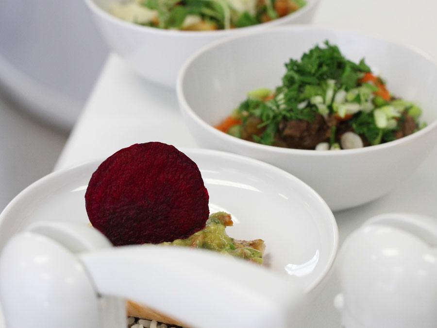 Internationales Event Catering mit Forkfood zum Business Lunch