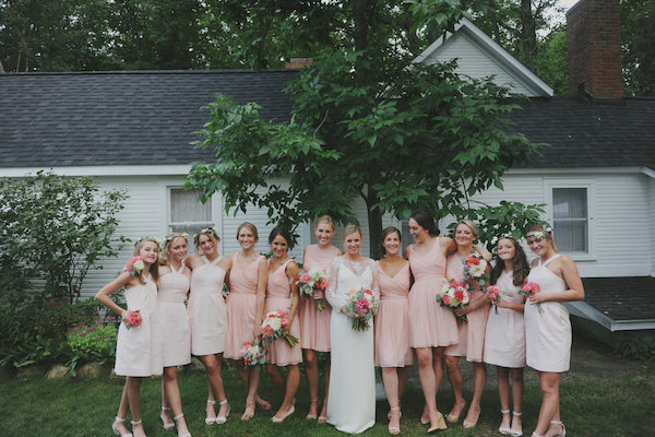 Blush Bridesmaids Dresses | Farm to Table Wedding | Epicure Catering and Cherry Basket Farm | Northern Michigan Barn Wedding Venue Omena MI