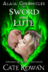 cover of Sword and Lute by Cate Rowan