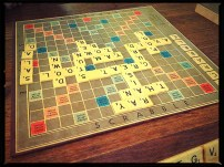 Rainy day scrabble - old school!