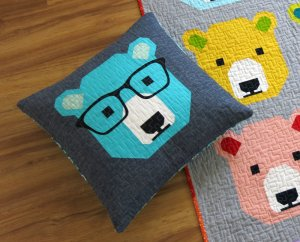 Holiday Gift Series: Cozy Critter Pillow @ Cate's Sew Modern
