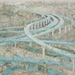 Map works by Matthew Cusick