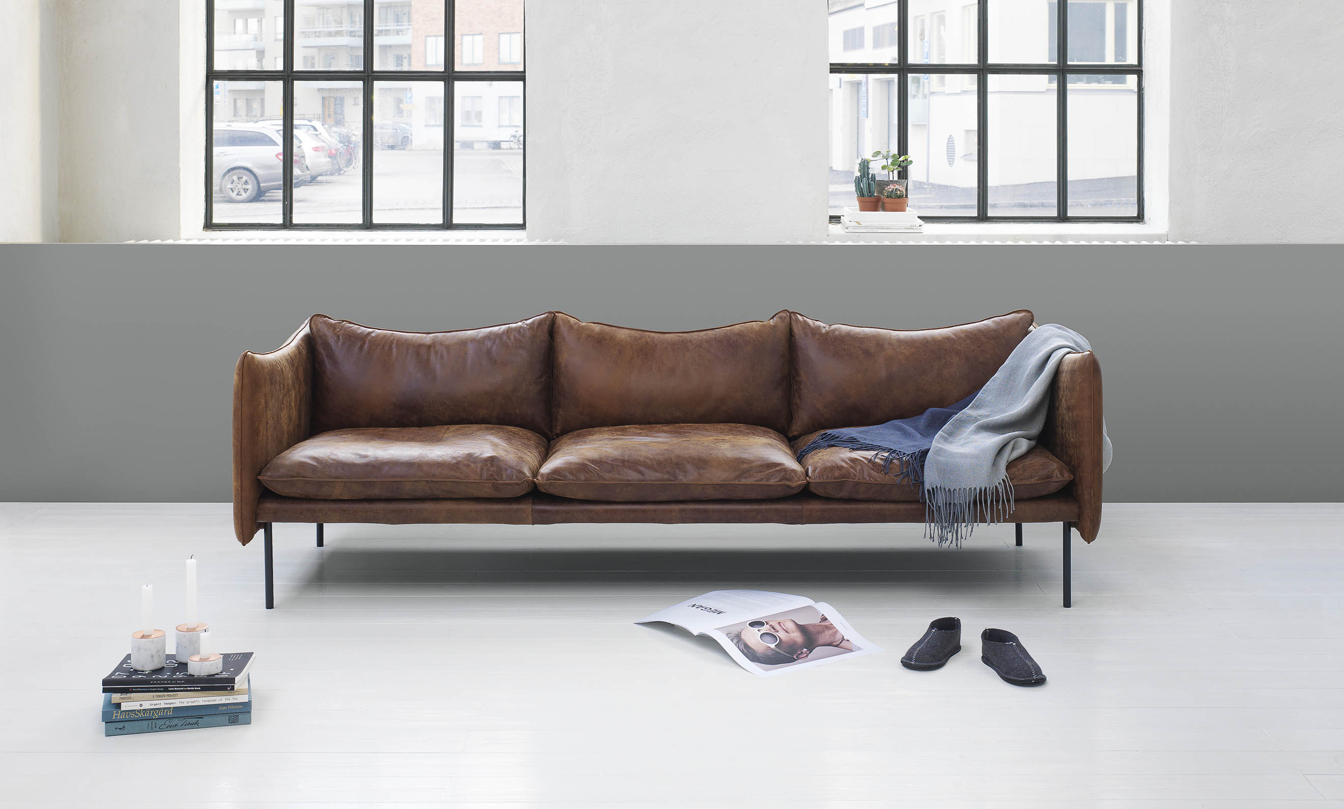 Beautiful leather sofas by Swedish brand Fogia cate st hill