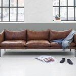 Beautiful leather sofas by Swedish brand Fogia