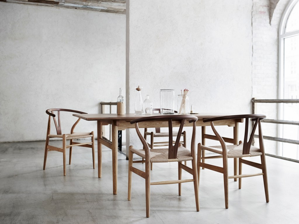 Hans J. Wegner's original Wishbone chair, CH24, expertly crafted in Denmark by Carl Hansen & Søns