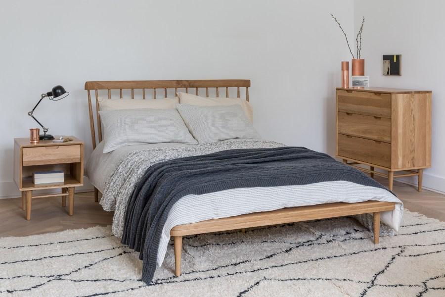 Soak&Sleep - Clerkenwell furniture range from £225, Artisan bed linen set from £55