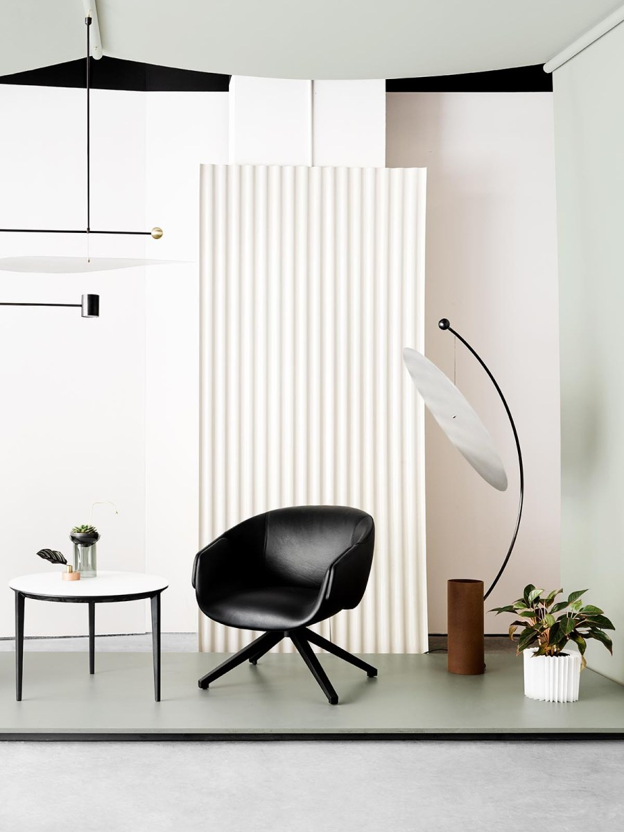 Introducing Australian design brand SP01 - minimal design - contemporary furniture - black armchair