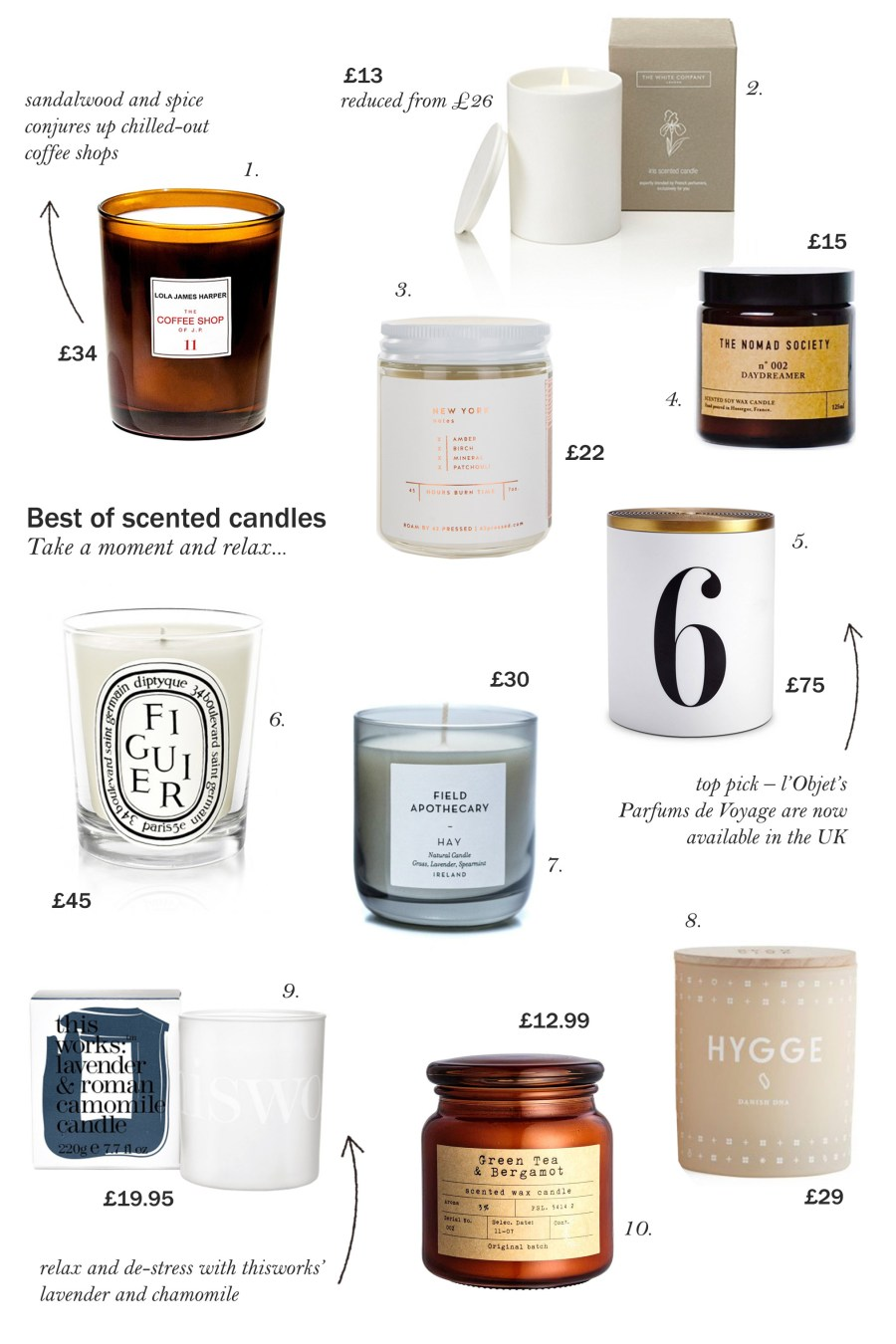 10 of the best scented candles - cate st hill