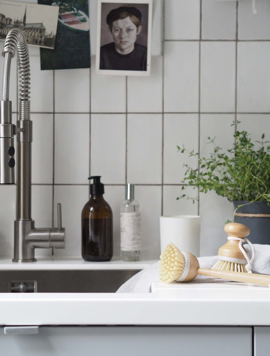 Light grey scandi-style kitchen - Affordable everyday kitchen essentials from Homesense - kitchen styling
