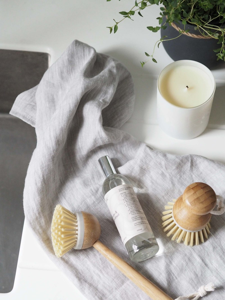 Contemporary Scandi washing up brushes - Affordable everyday kitchen essentials from Homesense - kitchen styling