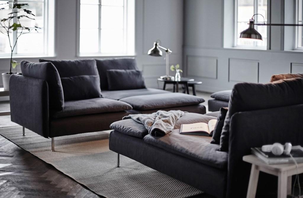 IKEA grey corner sofa