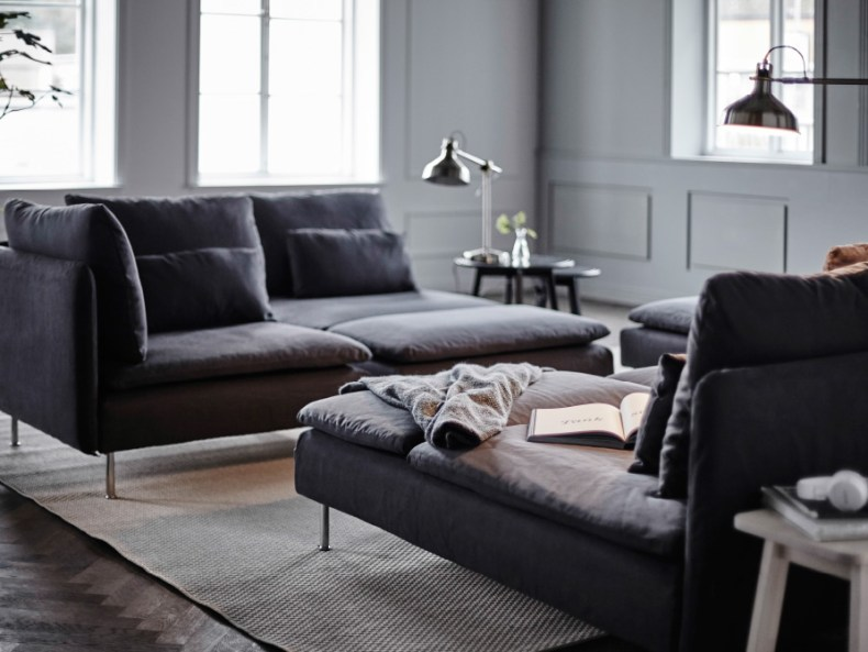 IKEA grey corner sofa